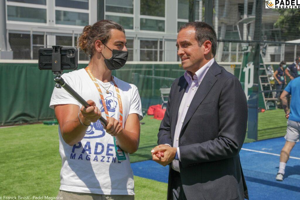 Lorenzo Lecci Luigi Carraro Padel Roland Garros-interview