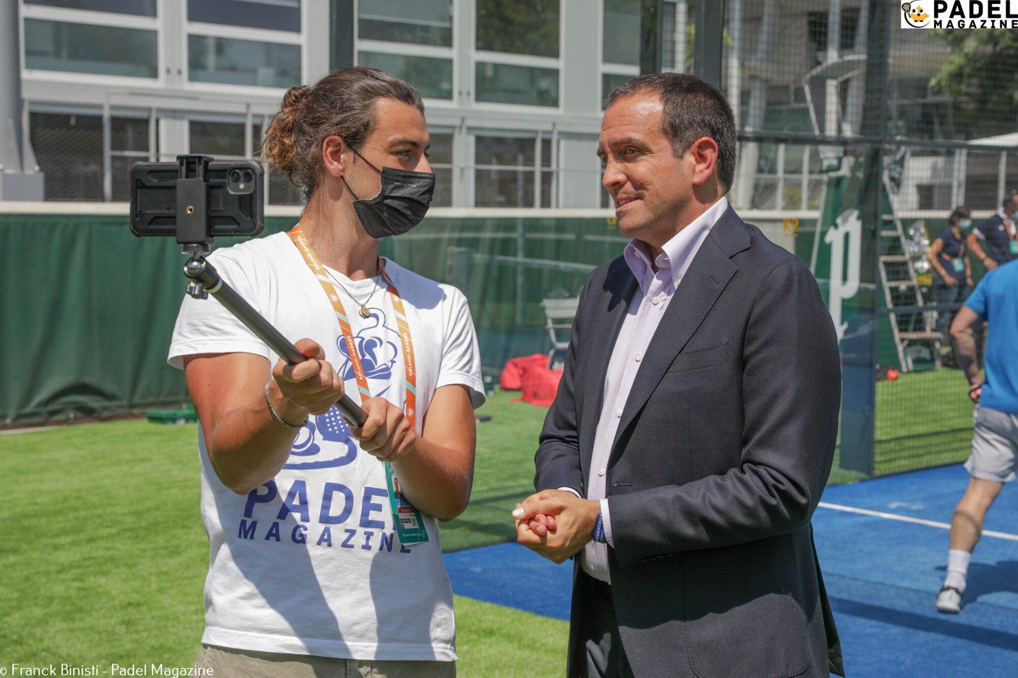 Lorenzo Lecci Luigi Carraro Padel Roland Garros interview
