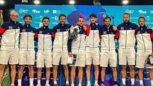 Photo de groupe équipe de France Marbella 2021 Europe FIP