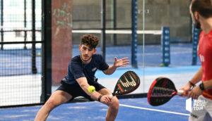 Thomas Leygue backhand volley WPT Marbella Master 2021