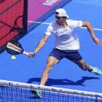 JUan Lebron forehand volley in de Marbella Master finale