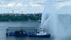 padel ziemie padel pływający Szwecja sztokholm