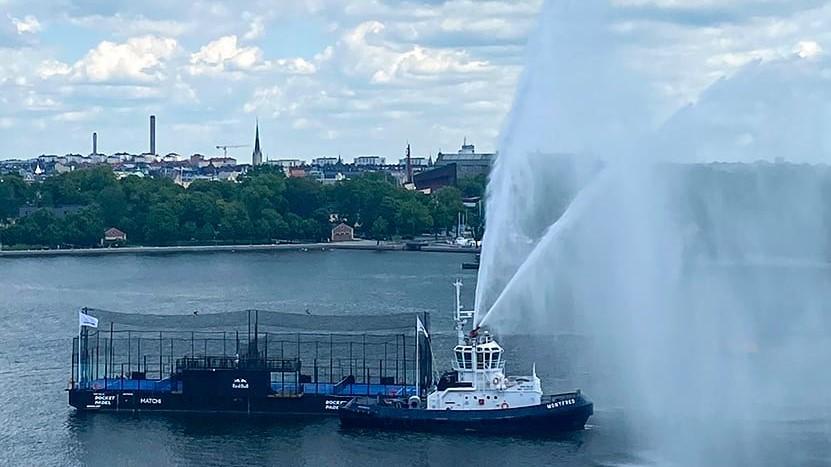 padel terrains de padel flottants suède stockholm