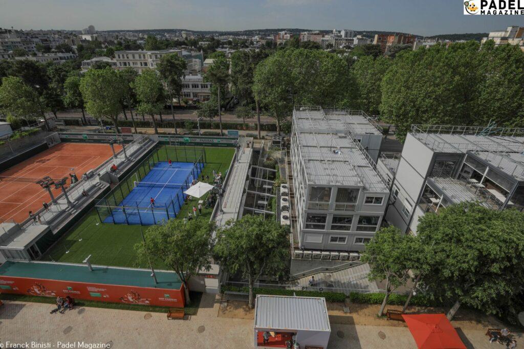 Roland Garros padel drone 2021