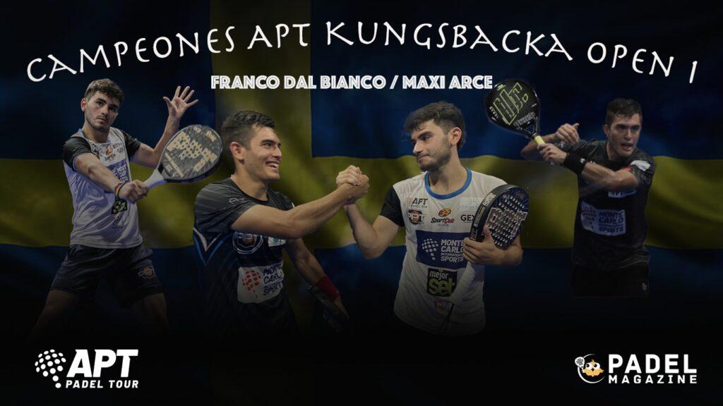 Zwycięzcy Arce Dal Bianco Kungsbacka Open 1 2021 APT padel wycieczka