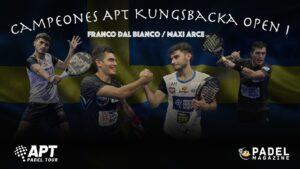 Arce Dal Bianco vainqueurs Kungsbacka Open 1 2021 APT padel tour