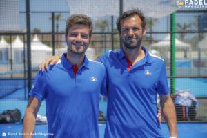 Bergeron et Tison équipe de france championnat d'europe de padel