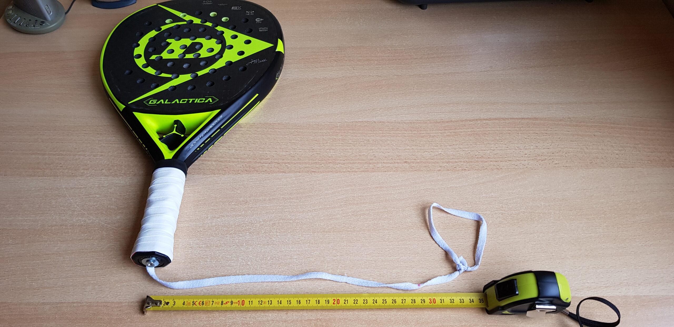 Dragonne modifiée 35cm de long Padel Ambidextre