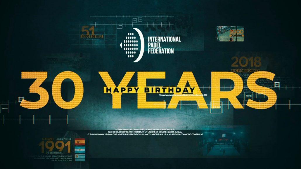 国際連盟 Padel 30周年を迎えます