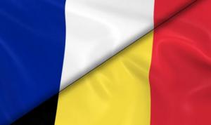 France Belgique drapeaux confrontation