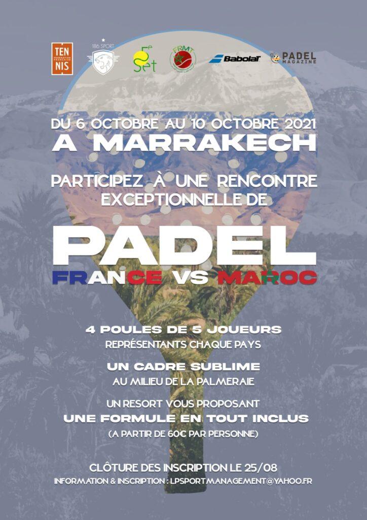 France vs Maroc affiche tournoi octobre