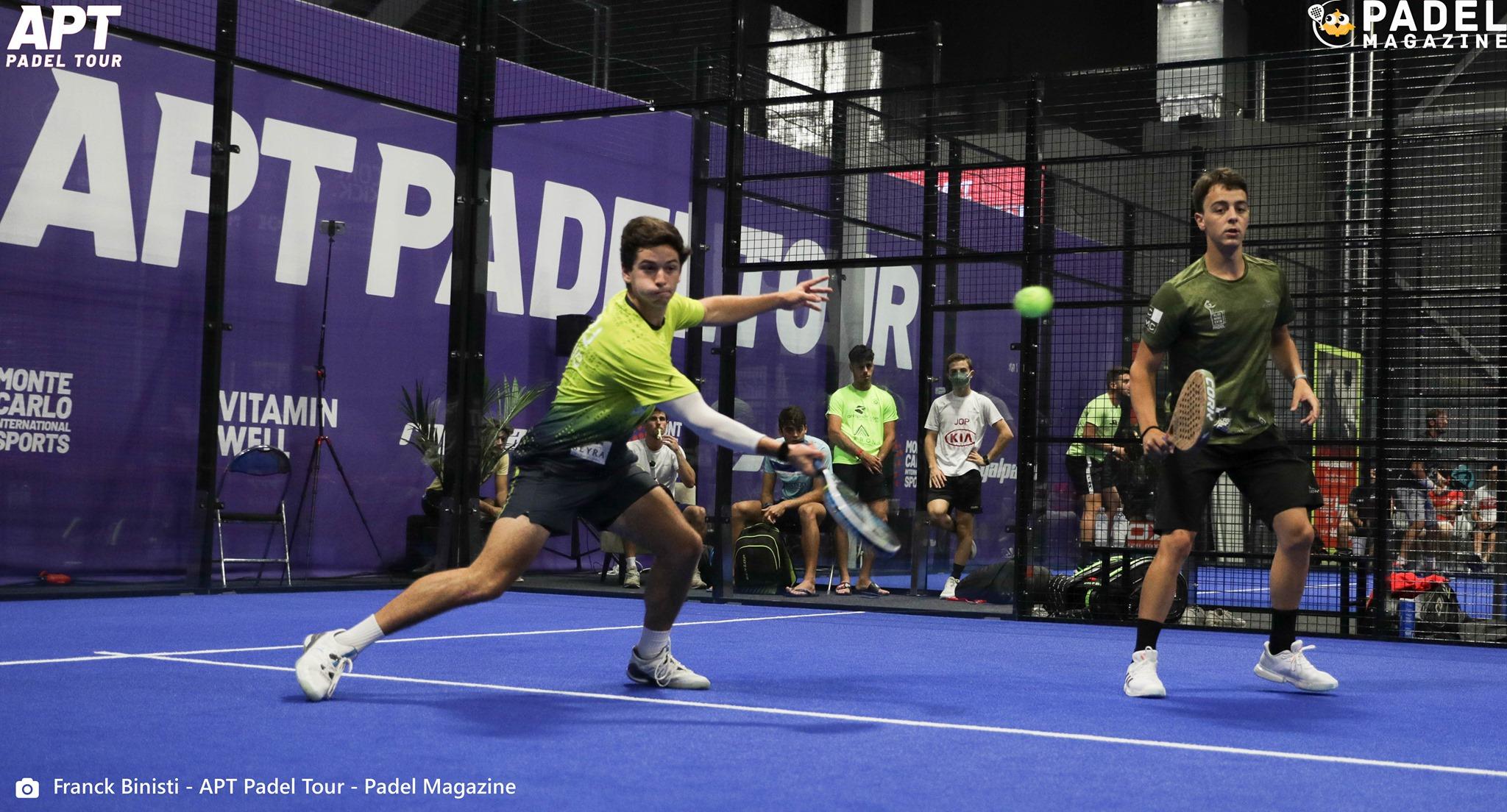 Pedro Araujo volée de coup droit APT Padel Tour Kungsbacka Open I 2021