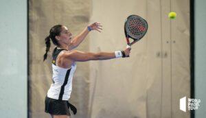 Teresa Navarro siatkówka bekhendowa 2021 WPT Valencia Open