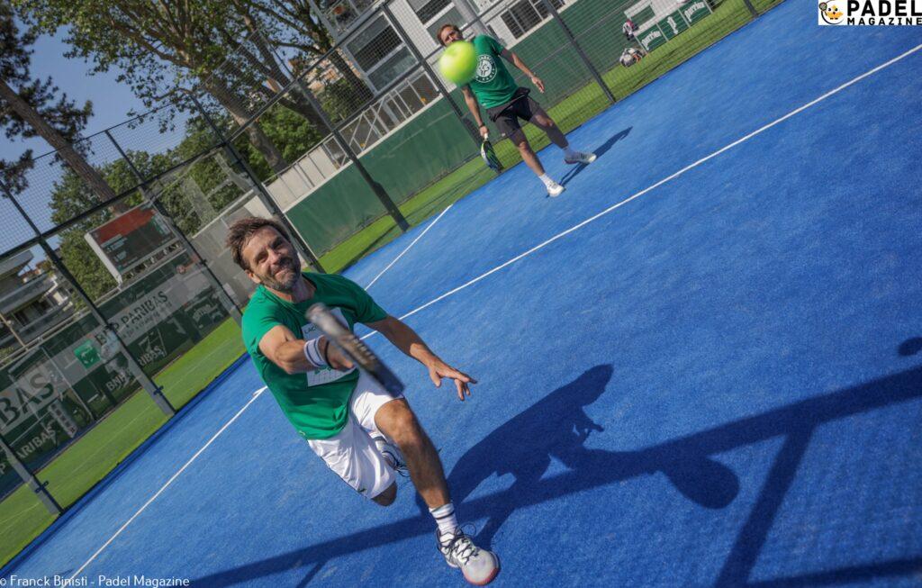 arnaud clément volée padel Roland Garros