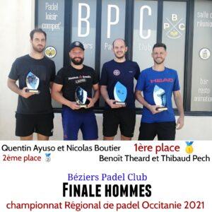 championnat padel occitanie 2021