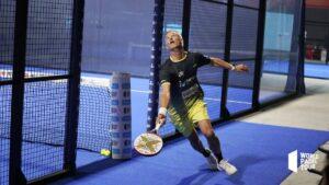Miguel Lamperti in 1/16 finale van Las Rozas Open 2021 uit poiste om de bal terug te krijgen