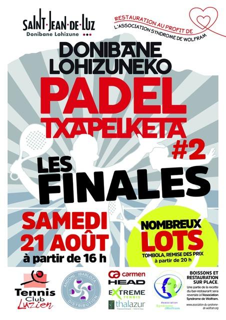 Affiche Padel Txapelketa TC Luzien