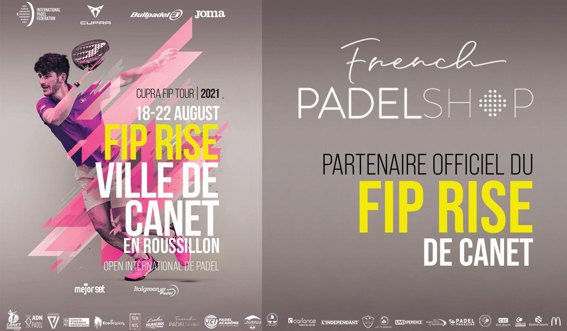 French Padel Shop partenaire officiel du FIP Rise de Canet 2021
