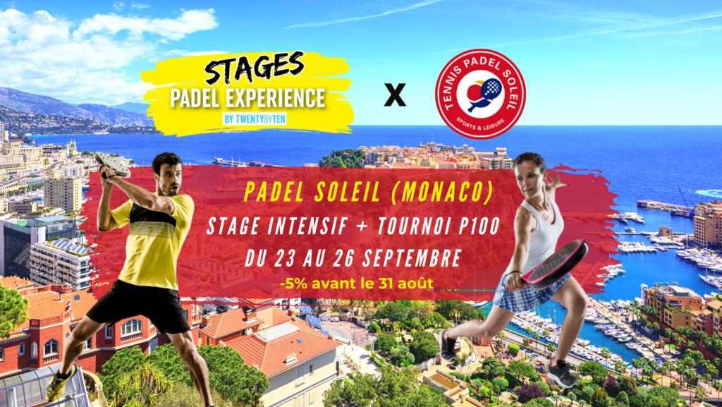 Twenty By Ten Stages Padel Soleil Monaco