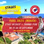 Zwanzig mal zehn Stufen Padel So Monaco