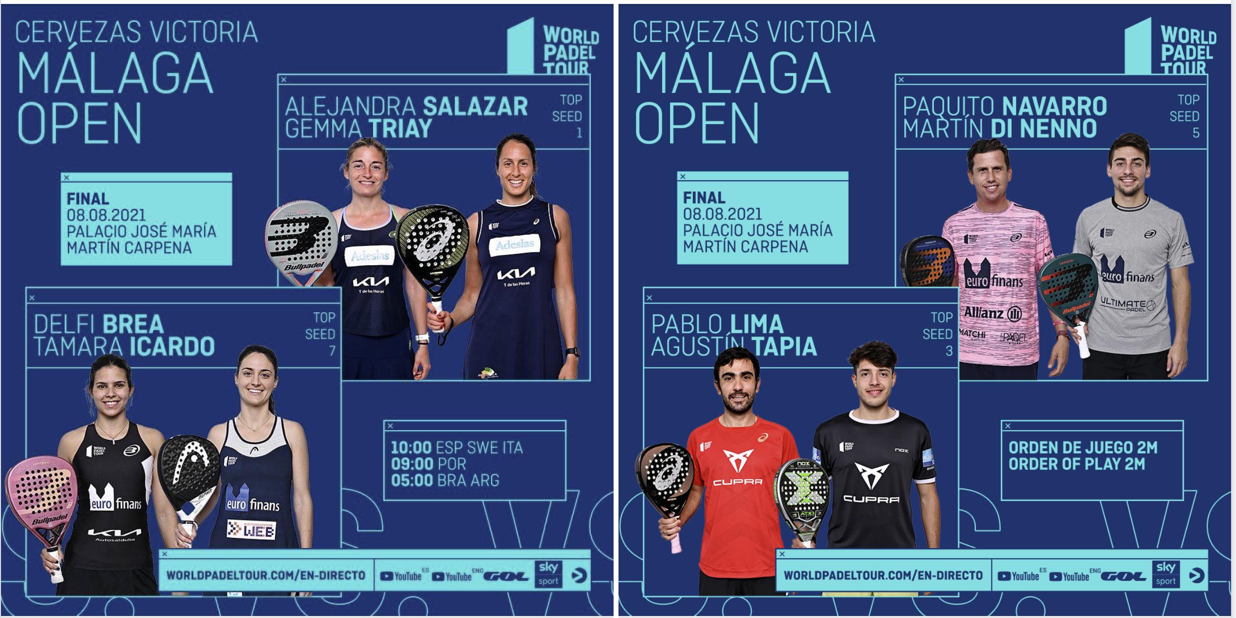 finales world padel tour open malaga 2021