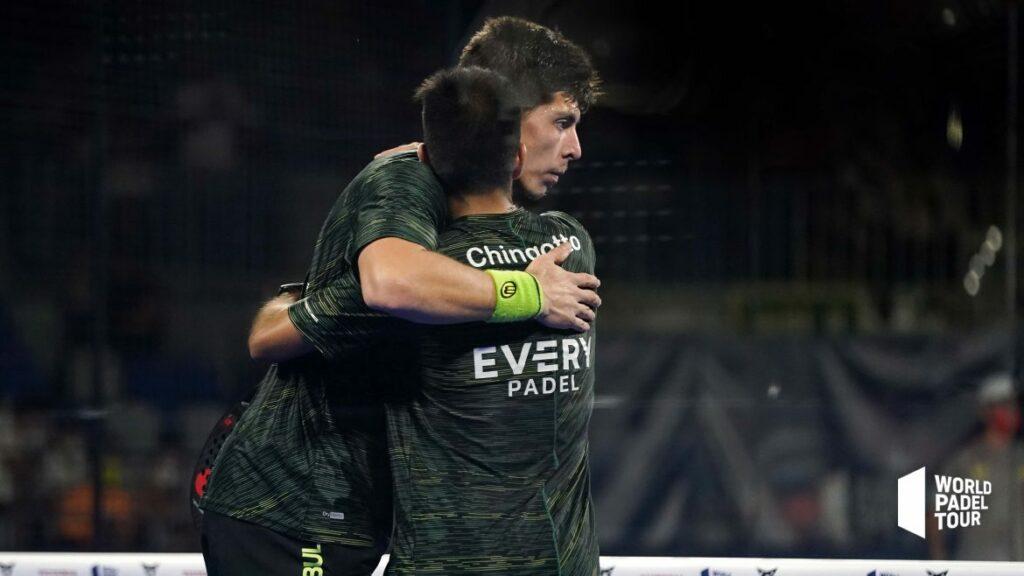 Juan Tello e Fede chingotto acolade dopo la loro vittoria