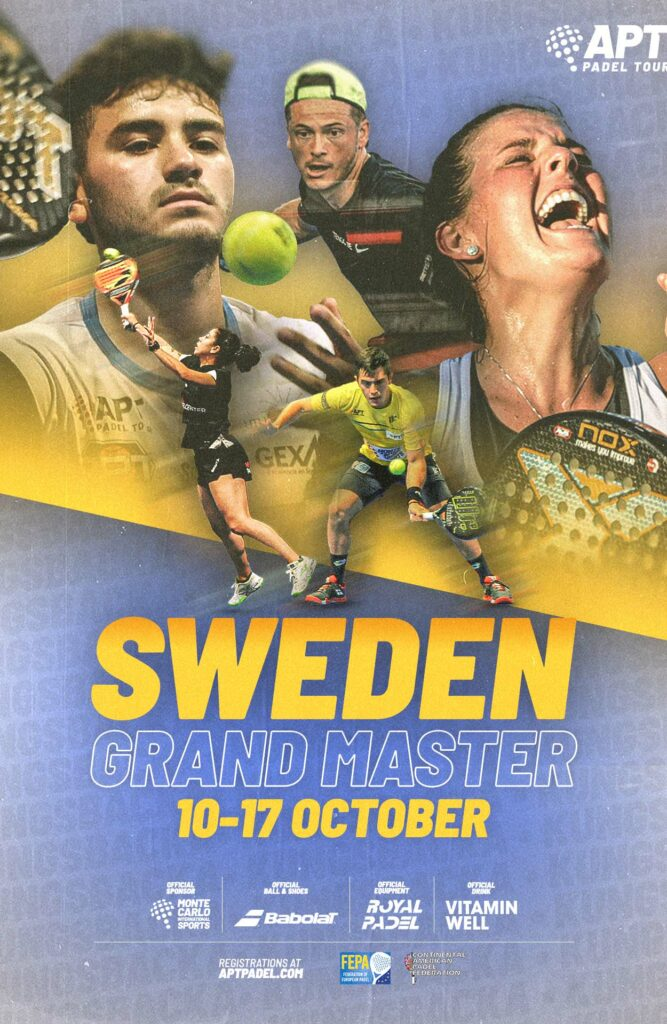 Sverige APT plakat Padel Grand Master Sweden Tour 2021 Padel