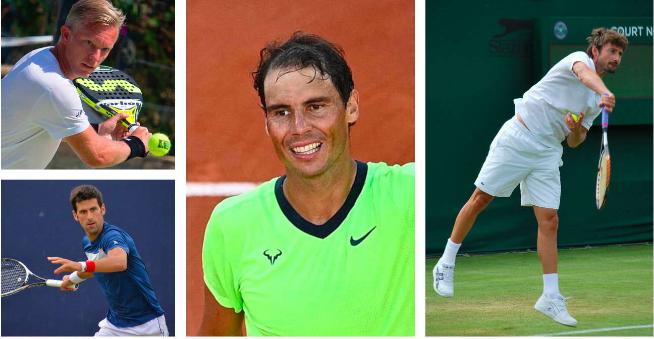 I più grandi campioni di tennis in padel