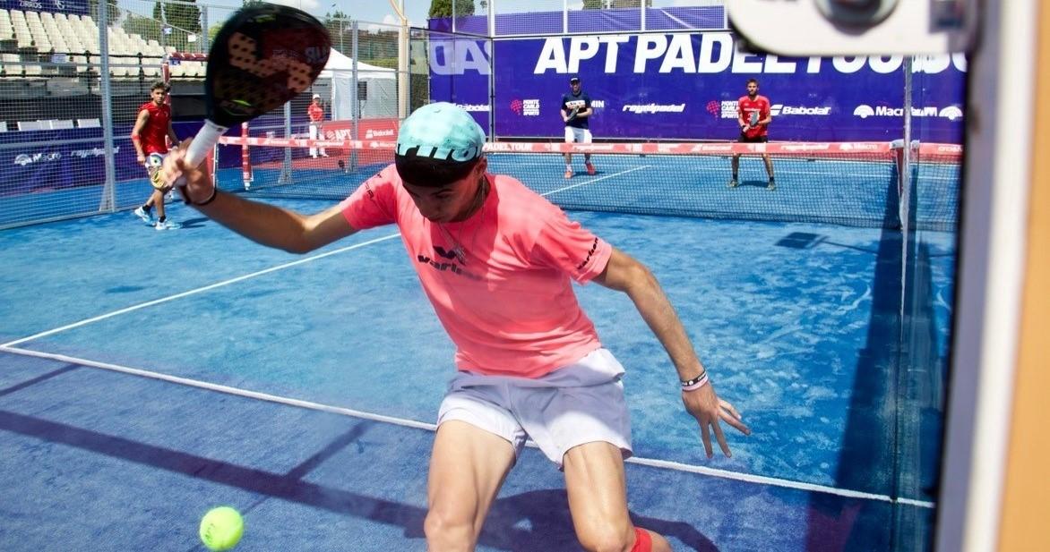 Leo Augsburger sprint balle dans le dos APT Sevilla Open 2021