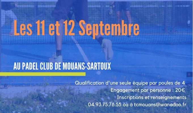 TC Mouans-Sartoux p250 / p500 - 11 e 12 settembre