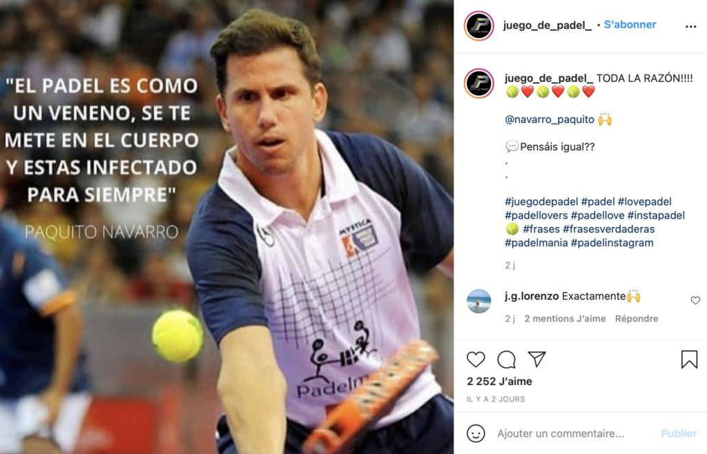 Paquito Navarro Instagram Padel 引用