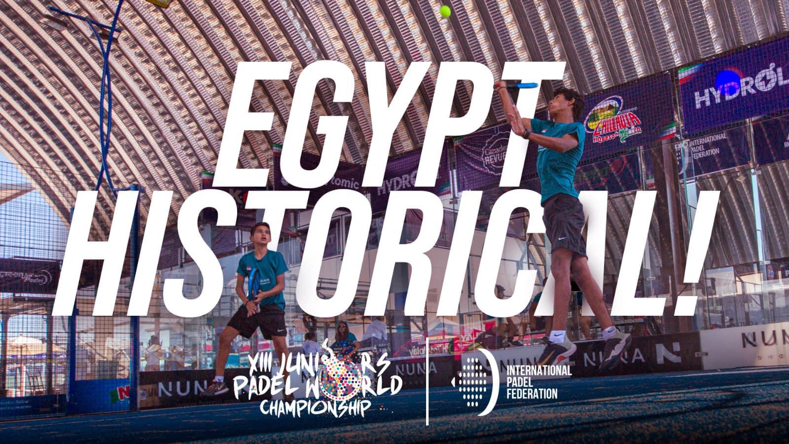 Erste Weltmeisterschaft von padel für Ägypten!