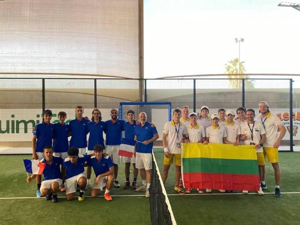フランスリトアニア padel 世界ジュニア2021年