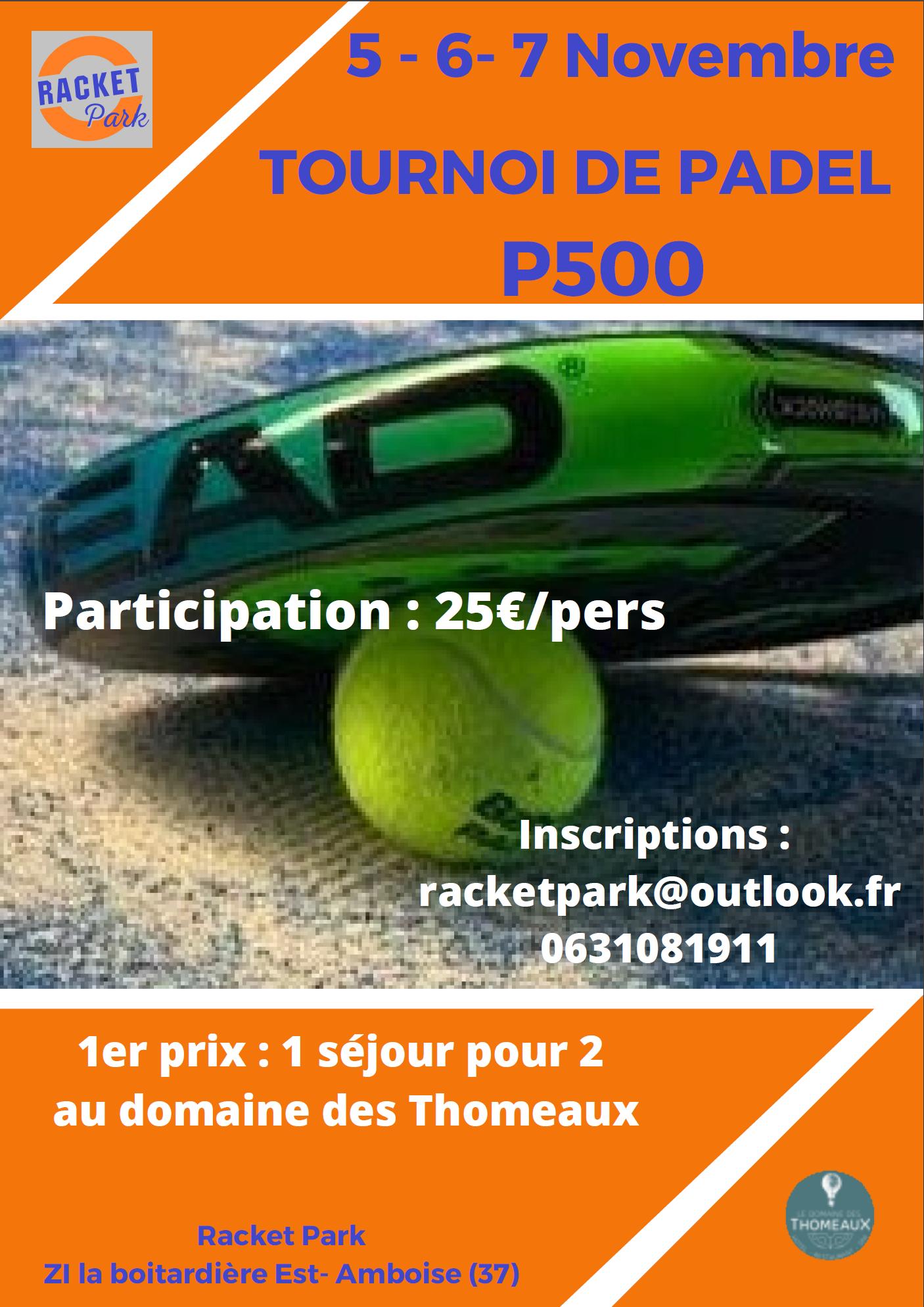Raqueta parc turístic Raqueta parc P500 Del 5 al 7 de novembre