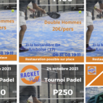 racket park tournois de padel 2021