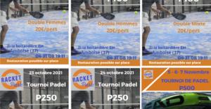 Schlägerpark-Turniere padel 2021