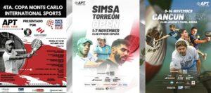 APT Padel Tour 3 tournois MExique novembre 2021