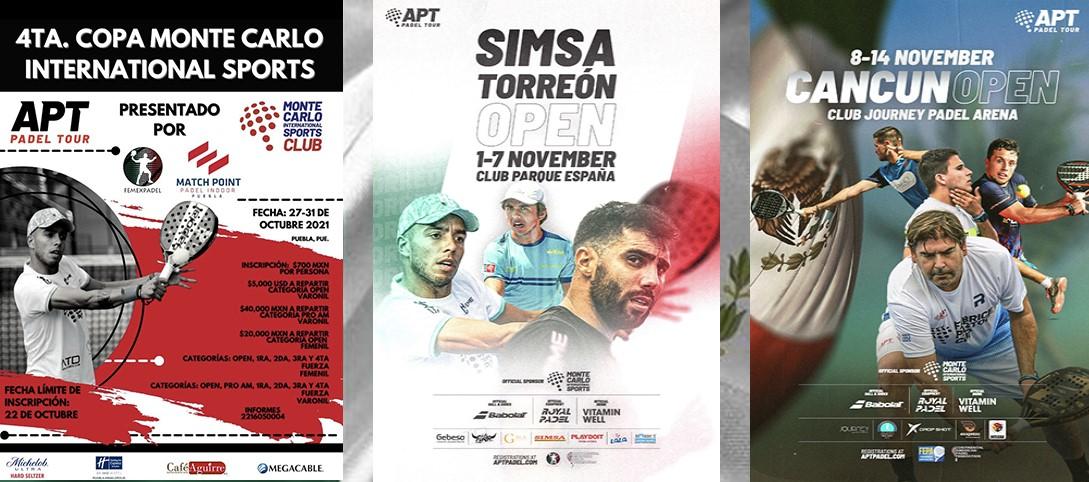 APT Padel Tour: 3 turneringer i træk i Mexico!