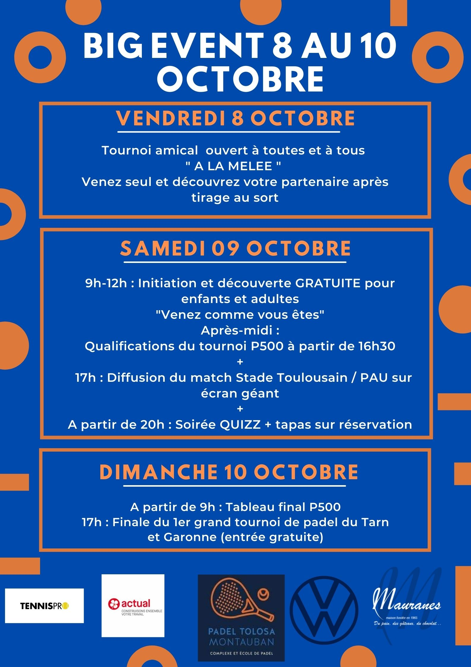 Opening weekend poster padel tolosa