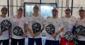 Champions de squash Gaultier Matthew padel