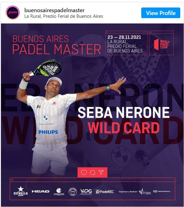Seba Nerone Wild Card Buenos Aires master 2021