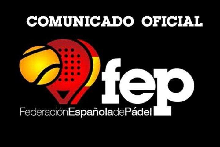 Nota de premsa oficial de la FEP