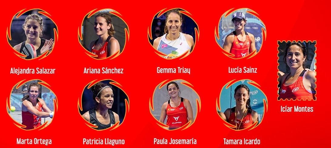 List player senhoras espanha qatar