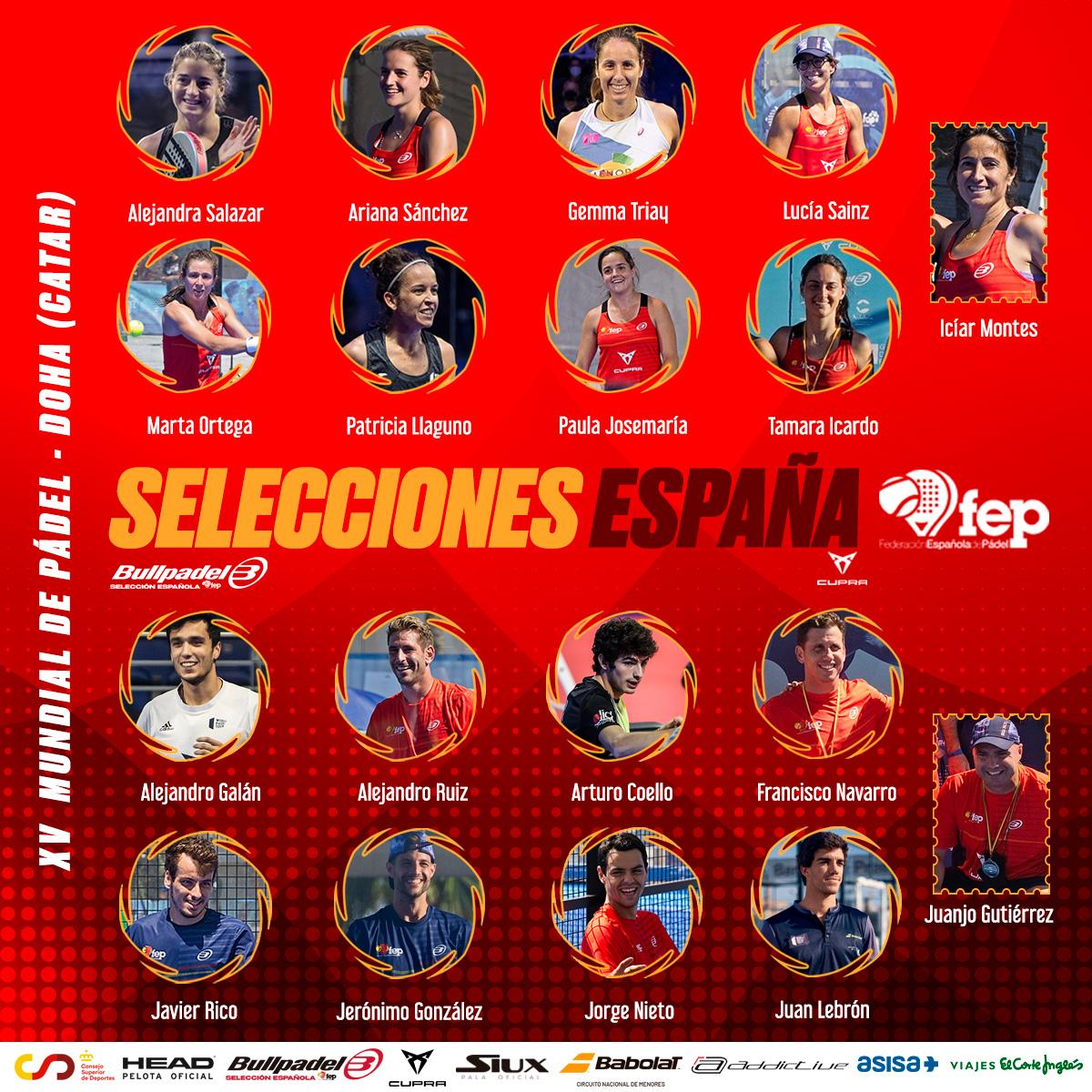 lista de jogadores espanhóis mundiais padel Catar