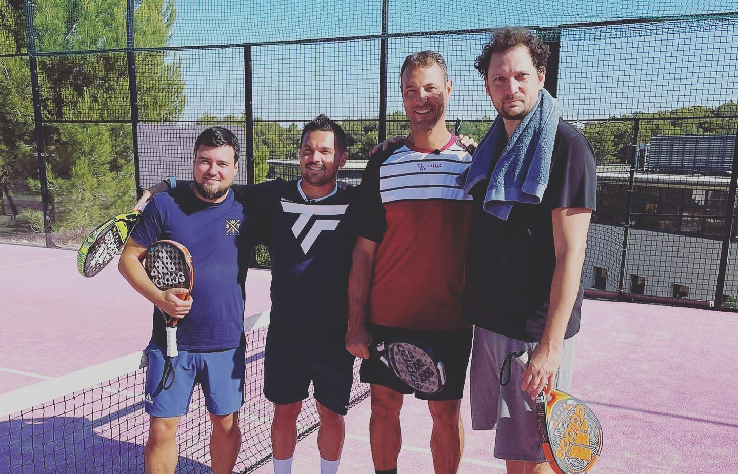 Du padel no Bein Sports com Eric Antoine, Jérôme Fernandez e Vincent Parisi